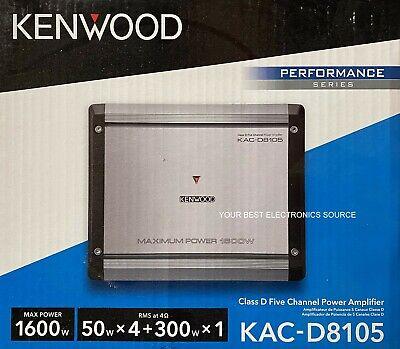 NY KENWOOD KAC-D8105 klasse D, 5-kanals bilforstærker