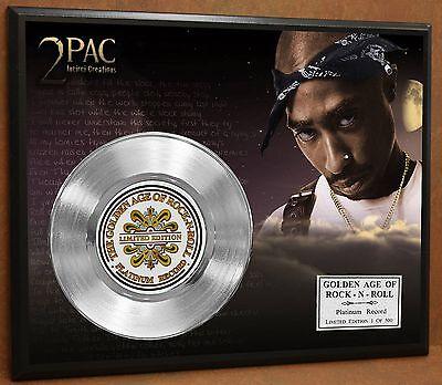 2 Pac / Tupac LTD Edition Poster Art Platinum Record Music Memorabilia Display
