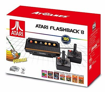 Atari Flashback 8 Game Console 2017 Retro 100  Built In Games W  2 Controllers