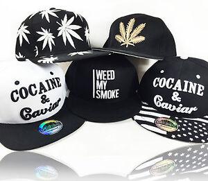 NEW-034-Cocaine-amp-Caviar-034-amp-034-Weed-034-Snapback-Baseball-Cap-dope-Hemp