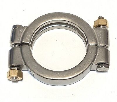 "DIXON 2-1/2"" High Pressure Bolted Sanitary Clamp, 304 Stainless Steel - 250"