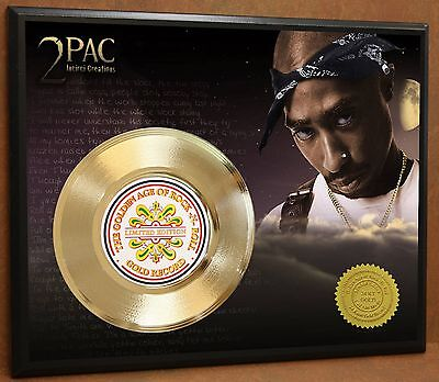 2pac / Tupac LTD Edition Poster Art Gold Record Music Memorabilia Free Shipping