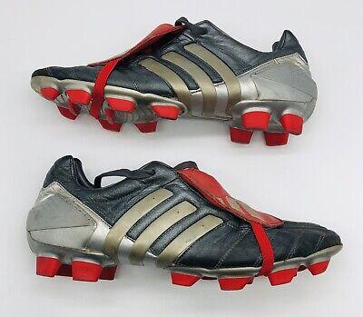 2002 ADIDAS PREDATOR MANIA FIRM GROUND GUN METAL UK SIZE 11 FOOTBALL BOOTS