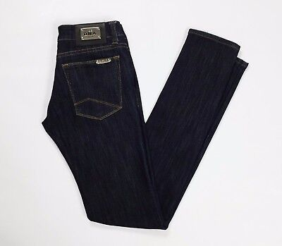 DNA jeans donna w26 tg 40 blu usato skinny stretti slim aderenti stretch T2470