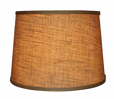 Urbanest French Drum Burlap Lampshade, 10-inch by 12-inch by