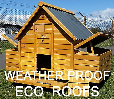 LARGE CHICKEN COOP RUN HEN HOUSE POULTRY NEST BOX COOPS RABBIT HUTCH PLASTIC