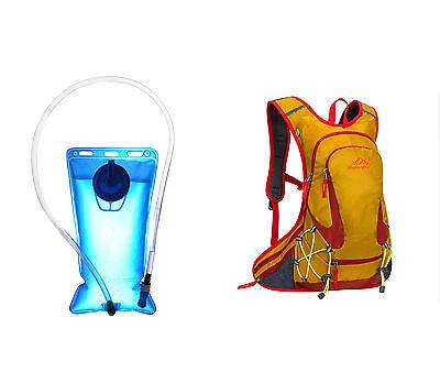 Mochila de Hidratacion IMPERMEABLE de Ciclismo Running + Bolsa Agua 2L 4354...