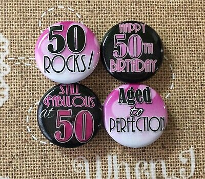 Set of 4 Pin back buttons 1
