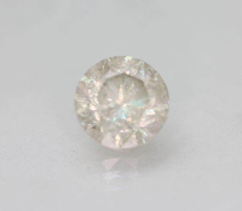 Certified 2.07 Carat I SI3 Round Brilliant Enhanced Natural Loose Diamond 7.63mm