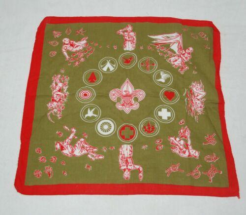 Vintage 1950s Boy Scout Handkerchief Bandana or Scarf