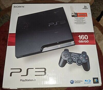 Sony PlayStation 3 Slim 160GB Console (CECH-2501A) w/ 2 Controllers & MORE!!!