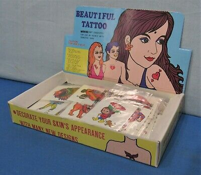 Dime Store Display Box with 1 Gross ~ Kids Water Transfer Tattoos