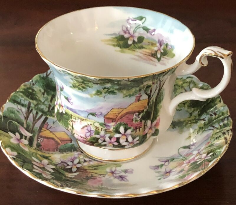 """Royal Albert Country Scenes """"Dingle Dell"""" Teacup and Saucer. Perfect!"""