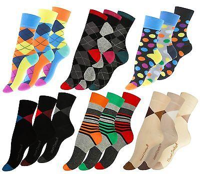 3-6 oder 9 Paar Bunte Damen Socken Kurzsocken Strümpfe verschiedene Varianten