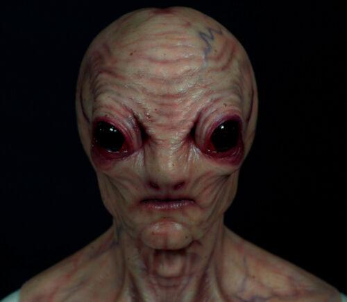 Custom Alien Silicone Mask UFO Grey X-Files Halloween Horror