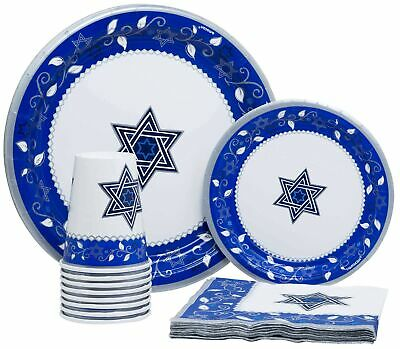 Passover Paper Plates (Joyous Passover Disposable Paper Plates, Napkins and Cups Set for)