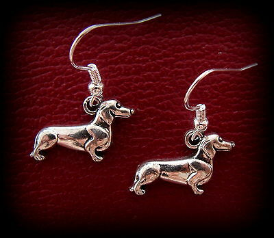 Doxie DACHSHUND Dog Jewelry EARRINGS - Weiner Sausage Puppy Pup  for sale  The Villages