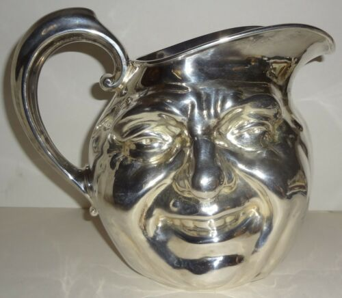 "The ULTIMATE pre 1953 REED & BARTON silver SUNNY JIM DOUBLE FACE 7"" PITCHER-MINT"