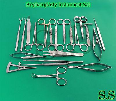 24 Pcs Blepharoplasty Surgical Instrument Set S.s-619