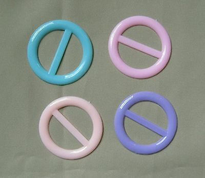 Tee shirt clip pull holder circle ring ONE pastel pink lavender blue peach - Tee Shirt Clips