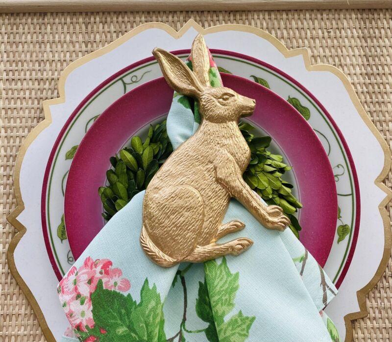 Jaye's Studio Bunny Rabbit Napkins Rings