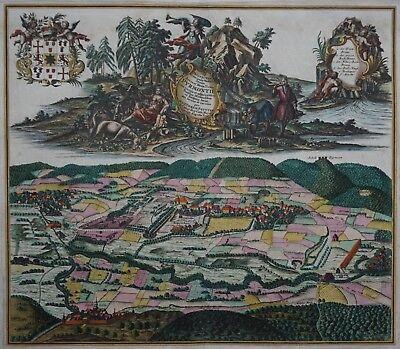 Bad Pyrmont - Prospectus Principalis ... - Mat. Seutter - Stadtansicht von 1738