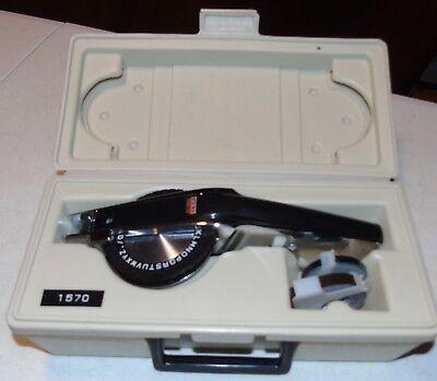 Free Label Maker - Vintage Dymo 1570 Label Maker Tapewriter Kit GOOD USED SHAPE FREE SHIPPING