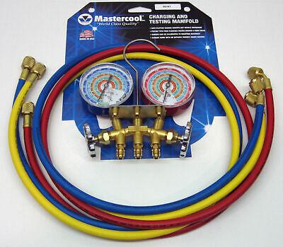 56161 Mastercool Air Conditioning Refrigeration Manifold W 60 Hoses R404a R134a