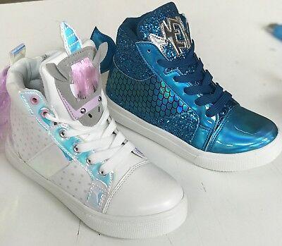 NEW SIZES Girls unicorn or mermaid theme lace up - Mermaid Shoes