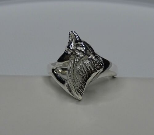 Small Sterling Silver Belgian Tervuren / Belgian Sheepdog Head Study Ring