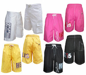 Mens-Henleys-Formula-Conch-knee-length-swim-shorts-4-colours-S-M-L-XL