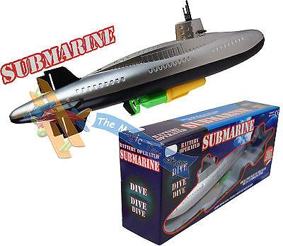 Large Battery Operated Submarine Bathtime Bath Paddling Pool Toy