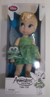 "Tinker Bell Doll Animators Collection 16"" Disney New & Croc Authentic"