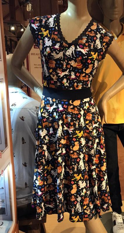 New 2021 Disney Parks Dress Shop Dooney Reigning Dogs Dress Adult L XL 1X
