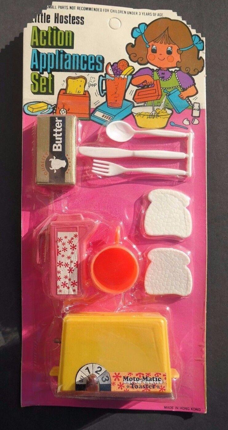 Vtg 1960 Little Hostess Kids Play Toy Cooking Food Utensils