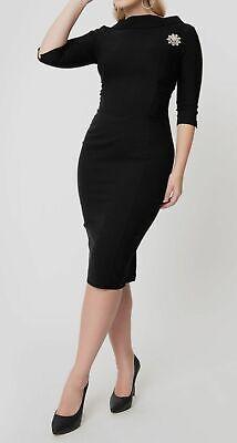$280 Unique Vintage Women's 1960s Lucinda Wiggle Strech Sheath Dress Size XS