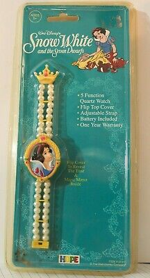 Vintage Disney Snow White and The Seven Dwarfs Watch Sealed New Old Stock 1993