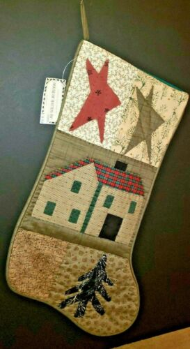 House of Hatten Christmas Stocking LONE CABIN Gerry Kimmel New Rare