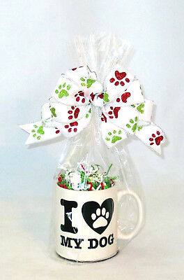 "'I ""heart"" My Dog' Mug ""Ready to Fill"" Christmas Gift Basket for Dog / Pet Lover"