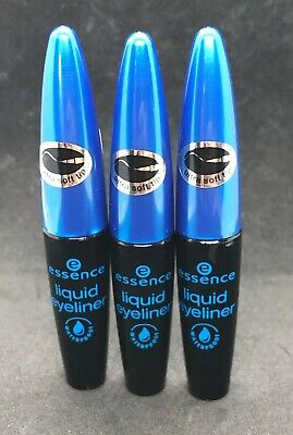 Eye Essence (essence Liquid Eyeliner schwarz WATERPROOF 3 Stück Spar-Angebot 3 x 4ml *neu*🖤)