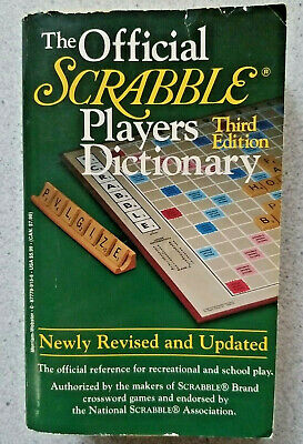 1996 THE OFFICIAL SCRABBLE PLAYERS DICTIONARY 3rd Edition ~ paperback game book
