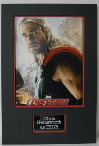 "Chris Hemsworth Signed 14X11 Photo Mounted ""The Avengers"" Thor AFTAL COA (B)"