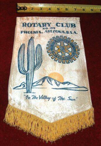VINTAGE Rotary International Club wall banner flag    PHOENIX   ARIZONA