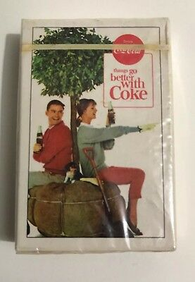 "Vintage 1960's ""Drink Coca Cola Things Go Better With Coke"" Sealed Playing Cards"