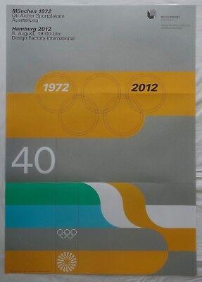 Poster Plakat - Ausstellung 2012 - olympische Spiele 1972 München - Otl Aicher