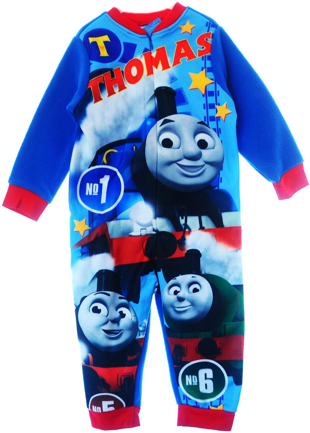 Pyjama Thomas & Friends Kinder Schlafanzug Overall Strampler Reißverschluss