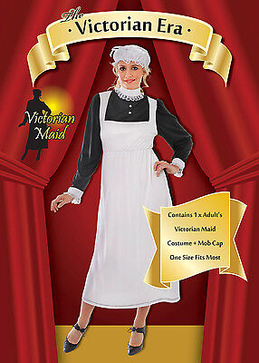 ADULT LADIES LADY VICTORIAN MAID FANCY DRESS COSTUME (Victorian Lady Adult Kostüme)