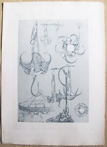 DOCUMENTS-DECORATIFS-par-A-MUCHA-1902-Planche-70-ART-NOUVEAU-Originale-RARA