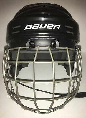 2fe3586a4a5 Bauer Hockey Helmet and Cage Black Size XS X Small Model BHH1500XS D5