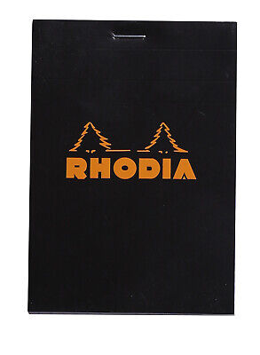 Rhodia Staplebound Notebook 3 38 X 4 34 Graph Paper Black